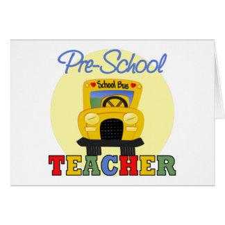 Pre-School Teacher Greeting Card