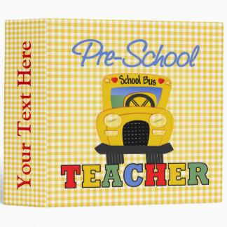 Pre-School Teacher School Notebook 3 Ring Binder