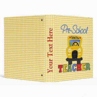Pre-School Teacher School Notebook Binders