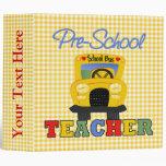 Pre-School Teacher School Notebook Binder
