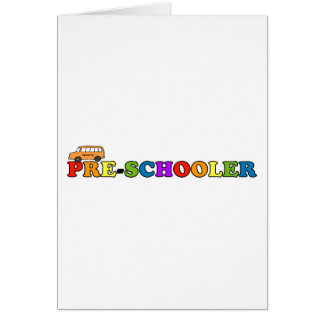 Pre-Schooler Greeting Card