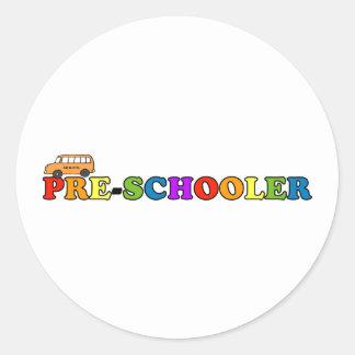 Pre-Schooler Classic Round Sticker