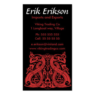Pre Viking Blue, business card template