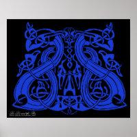 Pre Viking Blue, print print