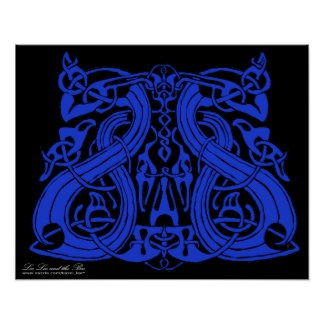 Pre Viking Blue, print