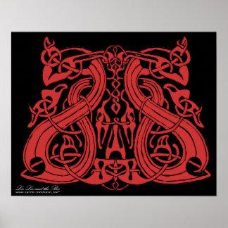 Pre Viking Red print