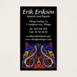 Pre Viking tri colour, business card template