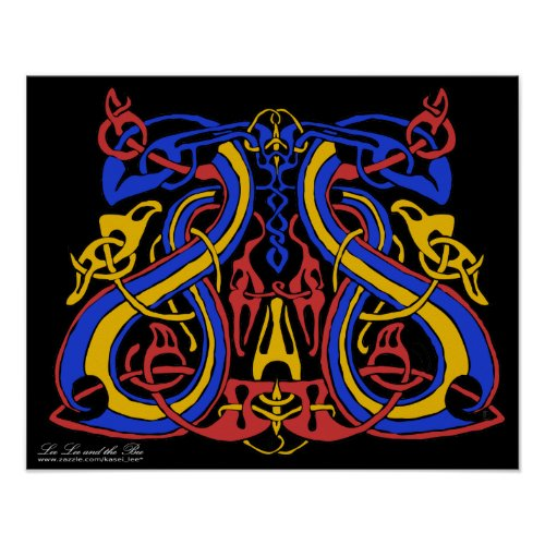 Pre Viking Tri Colour, print print