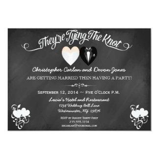 Pre Wedding Announcement Chalkboard Invitation
