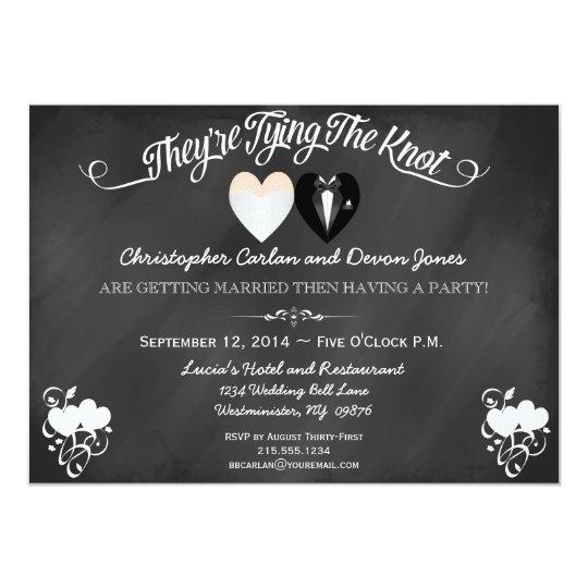Pre Wedding Dinner Invitation: Pre Wedding Announcement Chalkboard Invitation