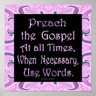 preach gospel poster