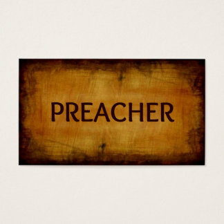 Preacher Antique Brushed Wood Business Card