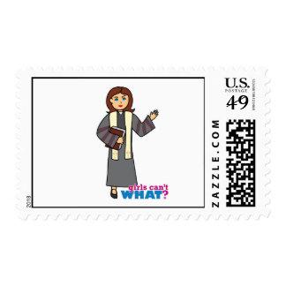 Preacher Girl Postage Stamp