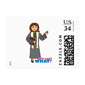 Preacher Girl Stamp