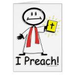 Preacher Greeting Cards
