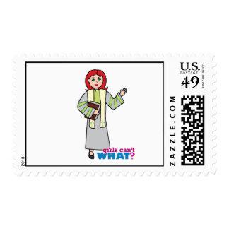 Preacher - Light Red Postage Stamp
