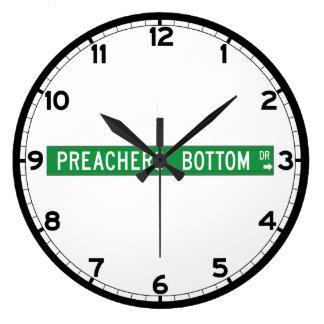 Preachers Bottom Dr., Street Sign, N. Carolina, US Large Clock