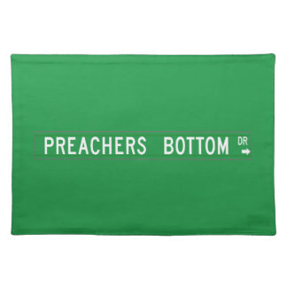 Preachers Bottom Dr., Street Sign, N. Carolina, US Placemat