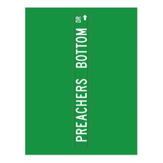 Preachers Bottom Dr., Street Sign, N. Carolina, US Postcard
