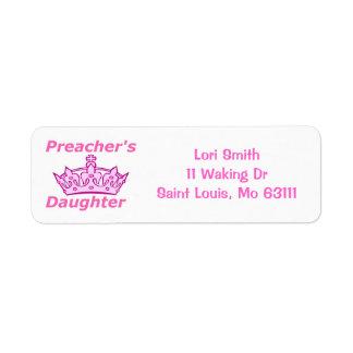 Preacher's Daughter Label