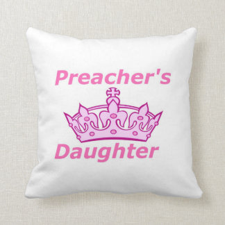 Preacher's Daughter Throw Pillow