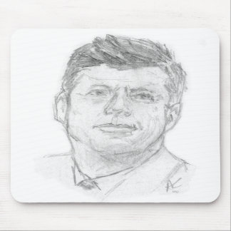 Preaident John F. Kennedy bosquejado en 1963 Alfombrillas De Ratones