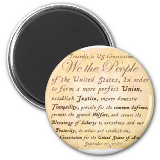 Preamble to Constitution H 2 Inch Round Magnet