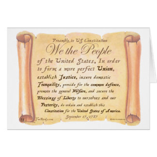 Preamble to Constitution H Greeting Card