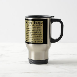 Preamble To The Constitution 15 Oz Stainless Steel Travel Mug