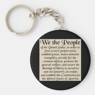 Preamble to The Constitution of the United States Basic Round Button Keychain