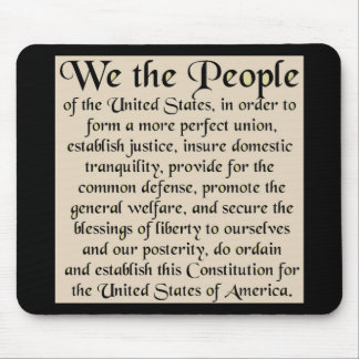 Preamble to The Constitution of the United States Mouse Pad