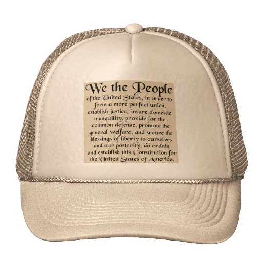 Preamble to The Constitution of the United States Trucker Hat