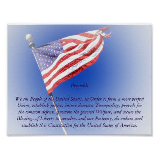 Preamble to the Constitution Poster