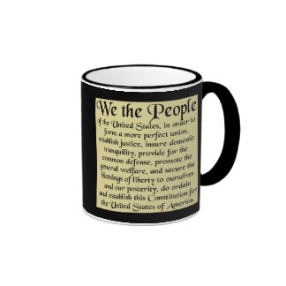 Preamble to The US Constitution Mugs