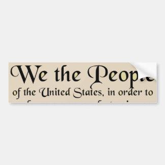 Preámbulo a la constitución de los Estados Unidos Pegatina Para Auto