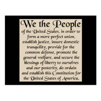 Preámbulo a la constitución de los Estados Unidos Tarjetas Postales