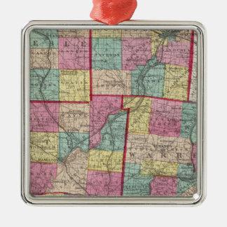 Preble and Warren Counties Metal Ornament