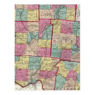 Preble and Warren Counties Postcard