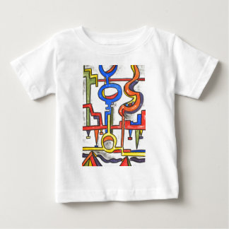 Precarious Plumbing - Abstract Art Baby T-Shirt