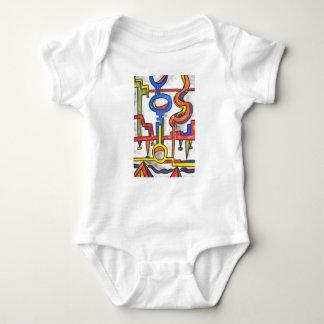 Precarious Plumbing-Abstract Art Hand Painted Baby Bodysuit