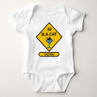 Precaución: .02 B.A. Cat Mameluco De Bebé