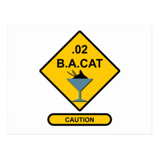 Precaución: .02 B.A. Cat Tarjetas Postales