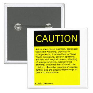 ¡Precaución! botón Pin