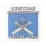 Precaución Chemtrails - aire tóxico Libretas Para Notas