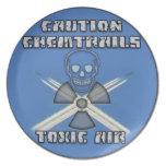 Precaución Chemtrails - aire tóxico Platos Para Fiestas