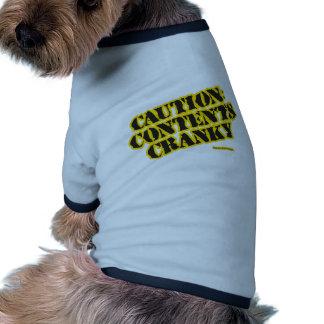Precaución Contenido irritable Ropa De Mascota