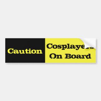 Precaución Cosplayers a bordo Pegatina Para Auto