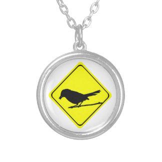 Precaución de la silueta del pájaro del Catbird o Grimpolas Personalizadas