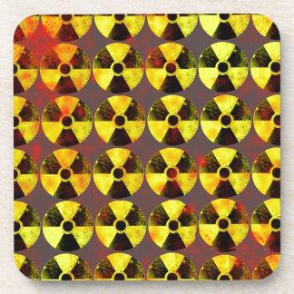 precaución, energía nuclear posavasos de bebidas