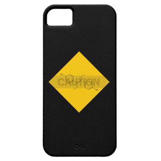 Precaución: Estrógeno Funda Para iPhone 5 Barely There